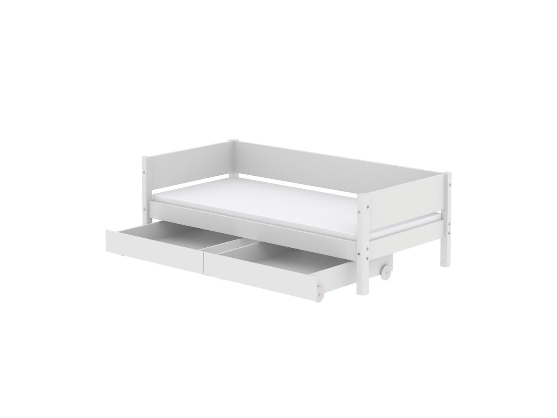 Attraktiv Flexa Bett Zubehör Das Beste Von White Mdf Einzelbett Mit 2 Schubladen Und